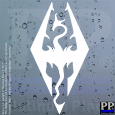 Skyrim Logo-Decal,Sticker,Sign,Car,Dragon,Game,Xbox,PC,PS4,Dovakin,Van,Bone,Elf,Elder,Scroll,Guild